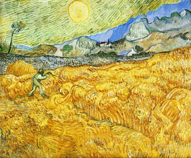 Жнец [ картина - пейзаж ] :: Ван Гог, описание картины - Van Gogh (Ван Гог) фото