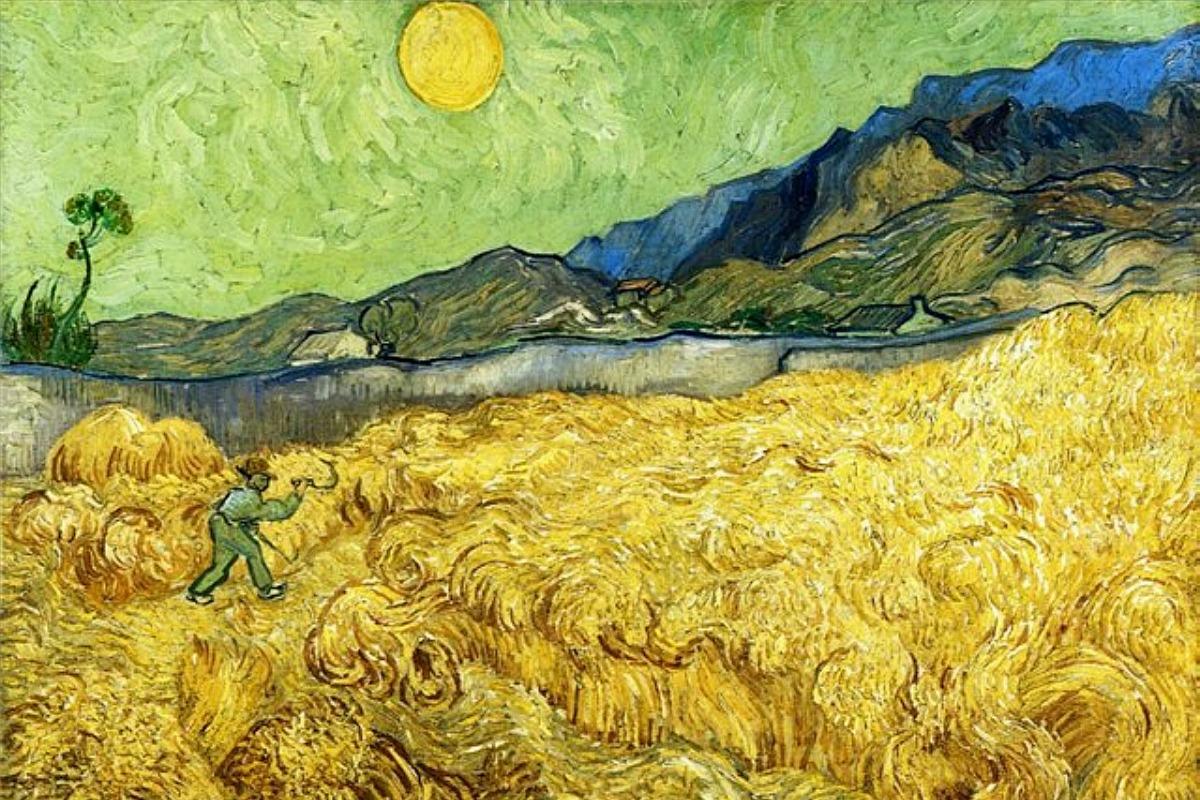 Жнец [ картина - пейзаж ] :: Ван Гог, описание картины - Van Gogh фото