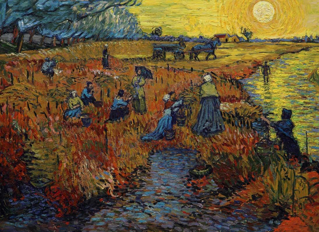Красное поле [ картина - пейзаж ] :: Ван Гог, описание картины - Van Gogh фото