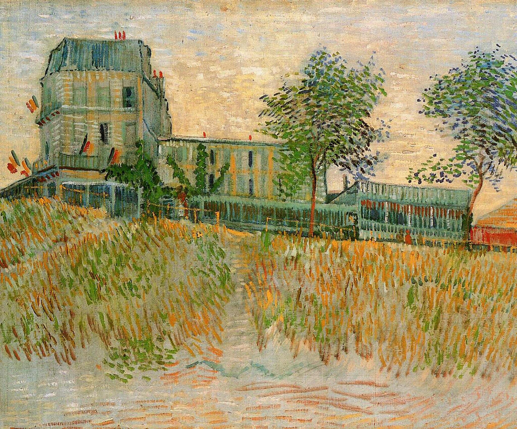 Ресторан Сирена в Аснирес [ картина - пейзаж ] :: Ван Гог, описание картины - Van Gogh (Ван Гог) фото