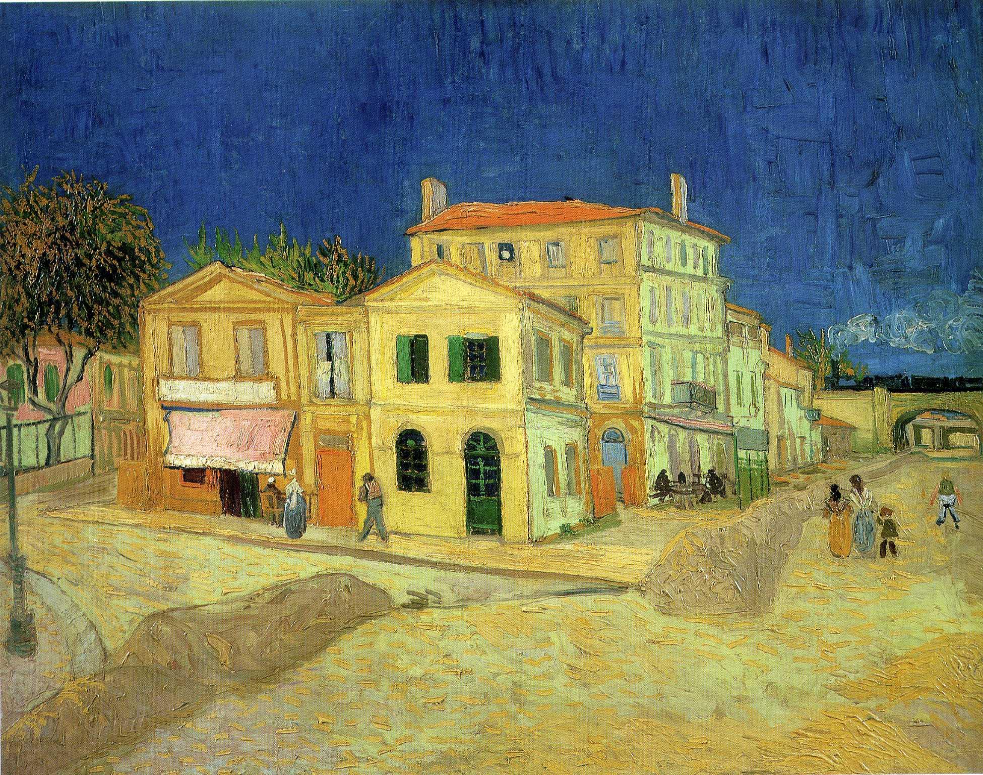 Улица, жёлтый дом, городской пейзаж :: Ван Гог, описание картины - Van Gogh фото