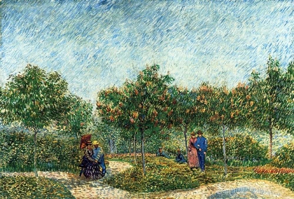 картина Парк в Аснирес [ картина - пейзаж ] :: Ван Гог, описание картины - Van Gogh (Ван Гог) фото