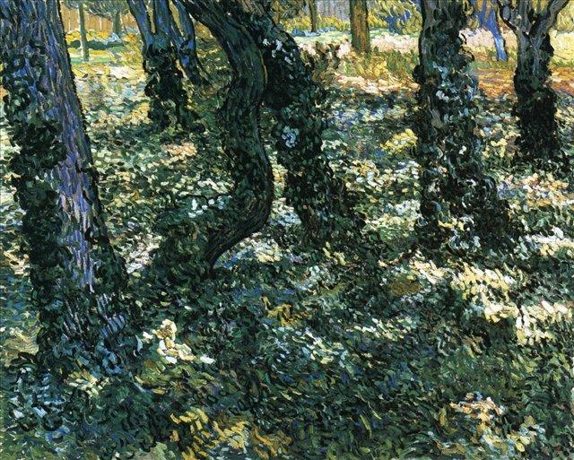 Деревья[ картина - пейзаж ] :: Ван Гог, описание картины - Van Gogh (Ван Гог) фото