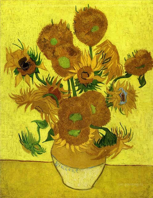 Натюрморт с подсолнухами :: Ван Гог, описание картины - Van Gogh фото