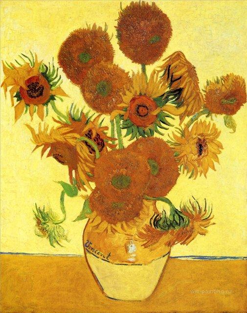 Подсолнухи [ картина - подсолнухи ] :: Ван Гог, описание картины - Van Gogh фото