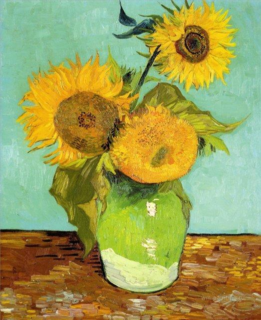 натюрморт Подсолнухи :: Ван Гог, описание картины - Van Gogh фото