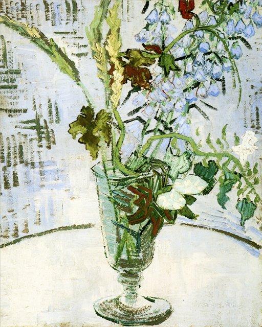 Цветы в вазе [ картина - цветы ] :: Ван Гог, описание картины - Van Gogh (Ван Гог) фото