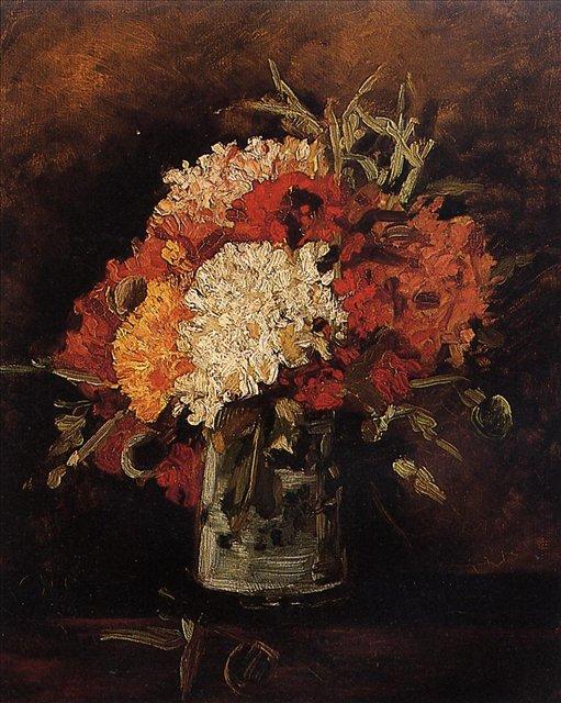 Ваза с гвоздиками [ картина - цветы ] :: Ван Гог, описание картины - Van Gogh (Ван Гог) фото