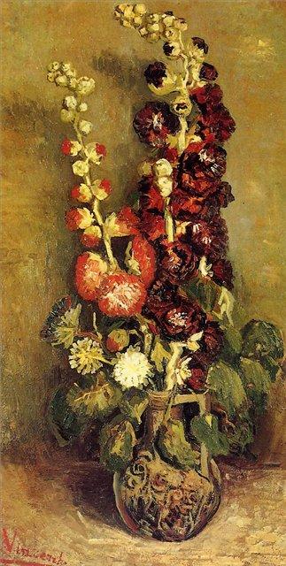 Ваза с цветами [ картина - цветы ] :: Ван Гог, описание картины - Van Gogh фото