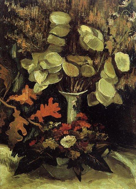 Ваза с лунниками [картина - цветы ] :: Ван Гог, описание картины - Van Gogh (Ван Гог) фото
