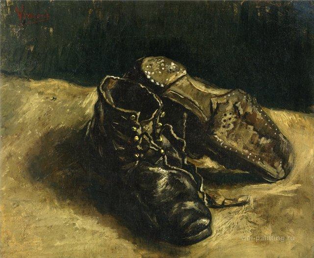 натюрморт Пара ботинок :: Ван Гог, описание картины - Van Gogh фото