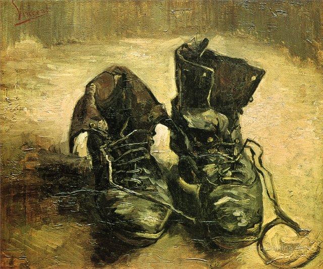Пара ботинок [ картина - натюрморт ] :: Ван Гог, описание картины - Van Gogh фото