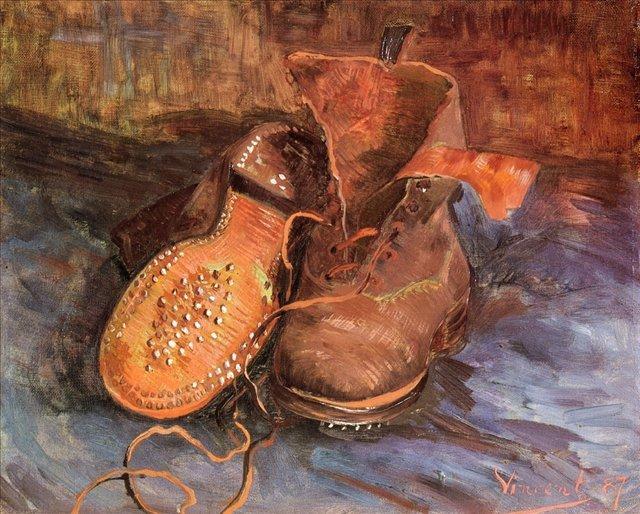 Пара ботинок [ картина - натюрморт ] :: Ван Гог, описание картины - Van Gogh (Ван Гог) фото