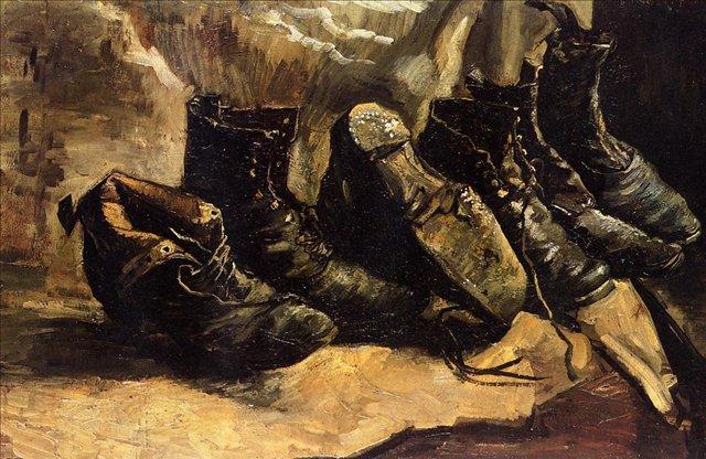 Три пары ботинок [ картина - натюрморт ] :: Ван Гог, описание картины - Van Gogh фото