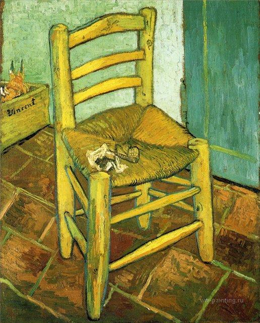 Стул Винсента с его трубкой :: Ван Гог, описание картины - Van Gogh фото