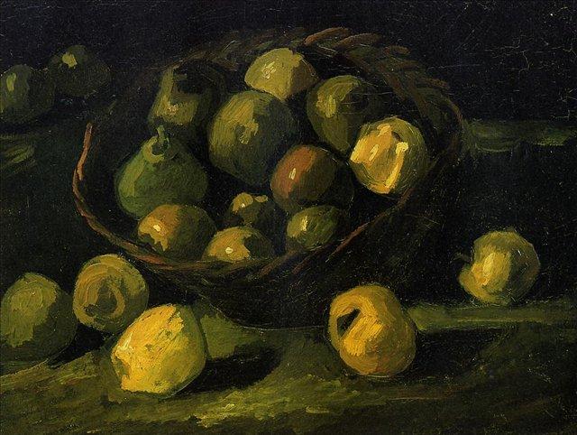 Натюрморт с корзиной яблок [ картина - натюрморт ] :: Ван Гог, описание картины - Van Gogh фото