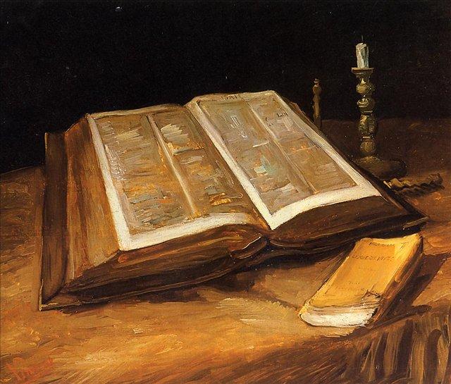 Натюрморт с Библией :: Ван Гог, описание картины - Van Gogh фото
