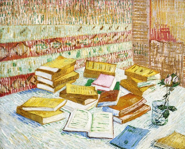"Натюрморт с книгой ""Римские патриции"" [ картина - натюрморт ] :: Ван Гог, описание картины - Van Gogh фото"