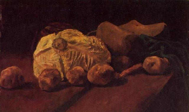 Натюрморт с капустой и картофелем [ картина - натюрморт ] :: Ван Гог, описание картины - Van Gogh фото