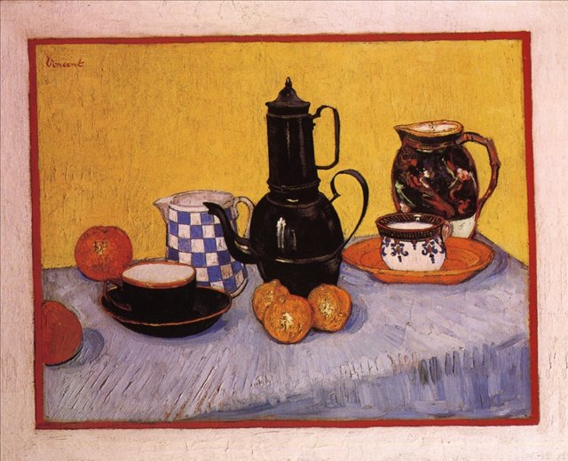 Натюрморт с кофейником[ картина - натюрморт ] :: Ван Гог, описание картины - Van Gogh фото