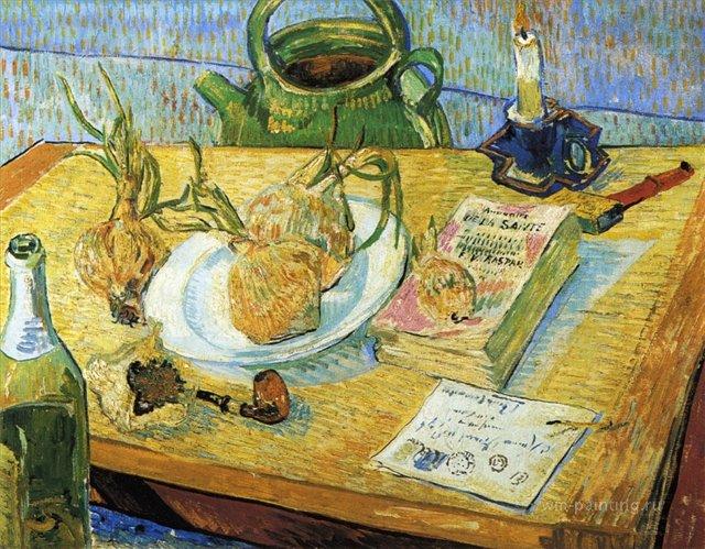 Натюрморт с луком и чертёжной доской :: Ван Гог, описание картины - Van Gogh фото