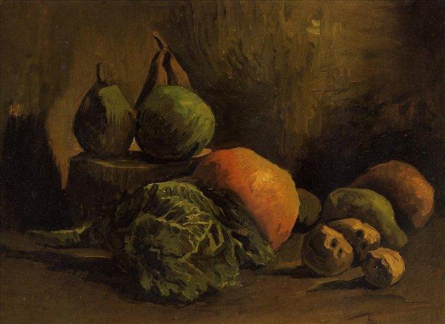 Натюрморт с овощами и фруктами [ картина - натюрморт ] :: Ван Гог, описание картины - Van Gogh фото