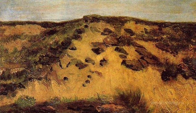 Дюны [ картина - ранний пейзаж ] :: Ван Гог, описание картины - Van Gogh фото
