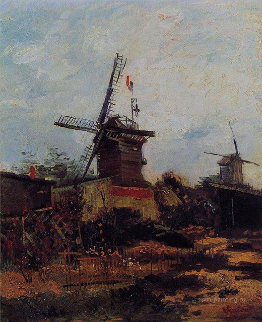 пейзаж Мельница Блю-Фин :: Ван Гог, описание картины - Van Gogh фото