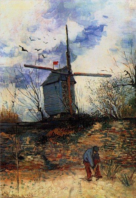 Мельница де ля Галетт[ картина - мельница ] :: Ван Гог, описание картины - Van Gogh фото