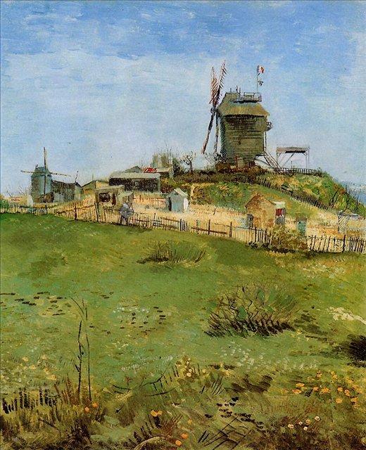пейзаж Мельница де ля Галетт :: Ван Гог, описание картины - Van Gogh фото