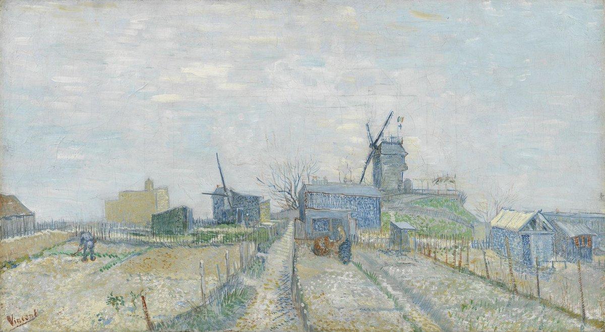 Огороды в Монмартре [ картина - мельница ] :: Ван Гог, описание картины - Van Gogh (Ван Гог) фото