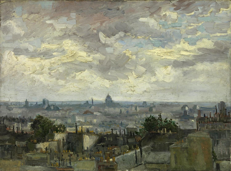 Крыши Парижа [ картина - городской пейзаж ] :: Ван Гог, описание картины - Van Gogh фото