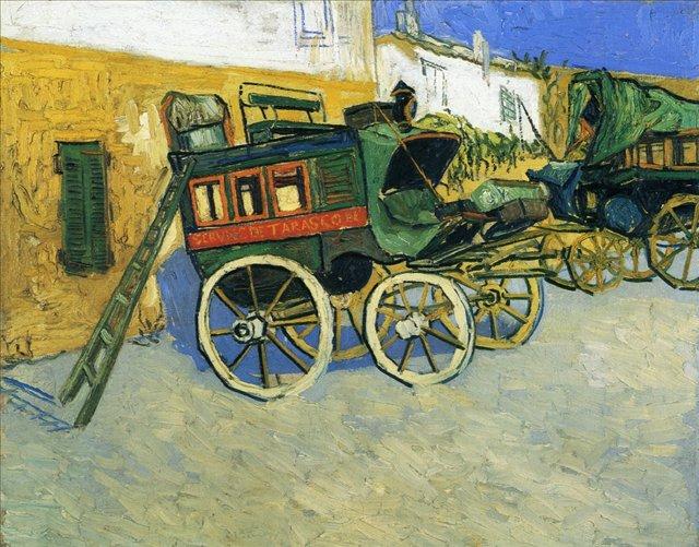 Дилижанс [ картина - городской пейзаж ] :: Ван Гог, описание картины - Van Gogh (Ван Гог) фото