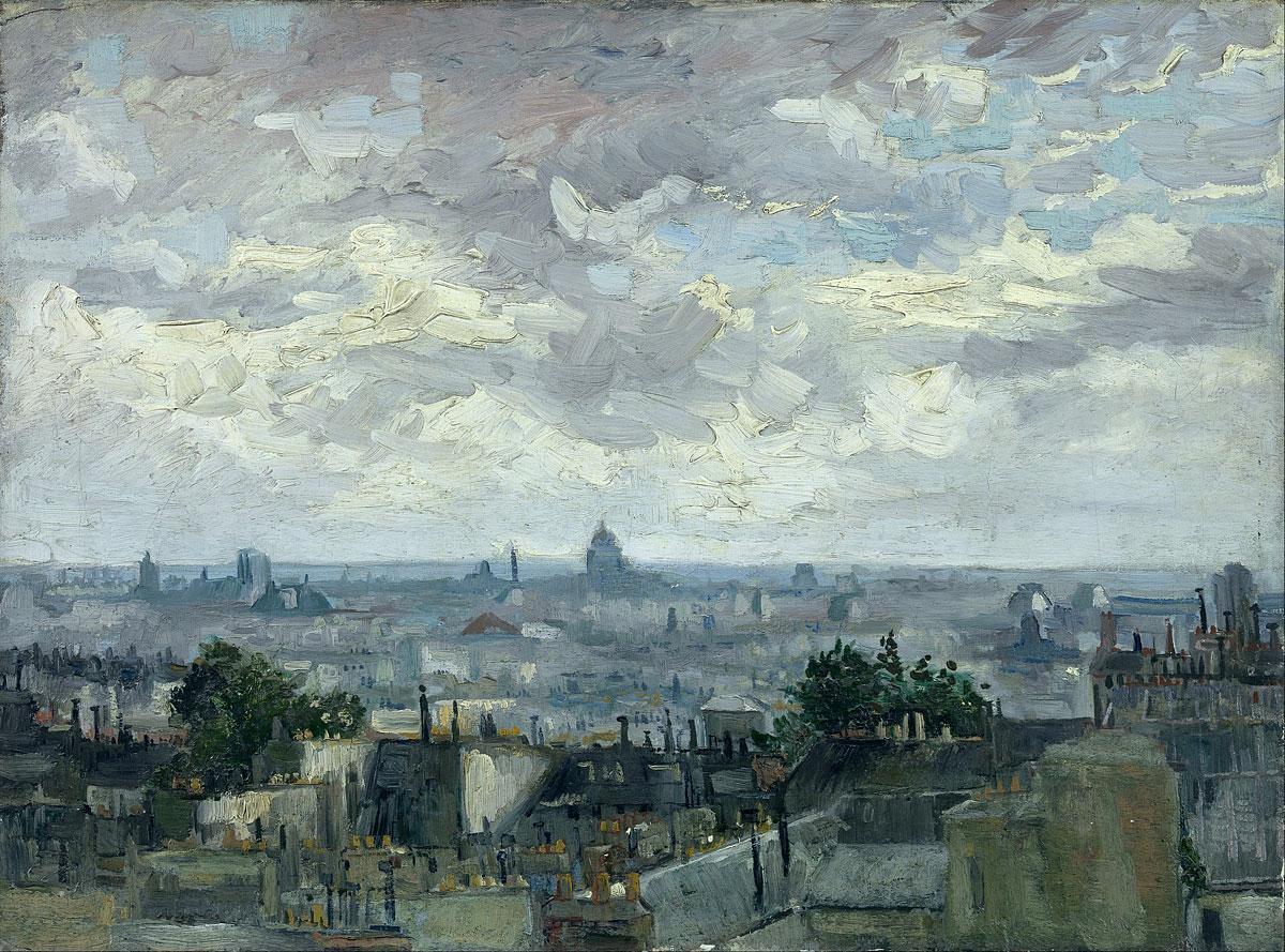 Вид на крыши Парижа [ картина - городской пейзаж ] :: Ван Гог ( Van Gogh - Van Gogh (Ван Гог) фото