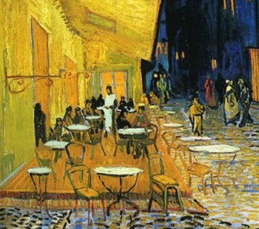 Терраса ночного кафе (Деталь) [ картина - городской пейзаж ] :: Ван Гог, описание картины - Van Gogh фото