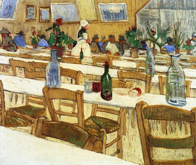 Интерьер ресторана [ картина - интерьер ] :: Ван Гог, описание картины - Van Gogh фото