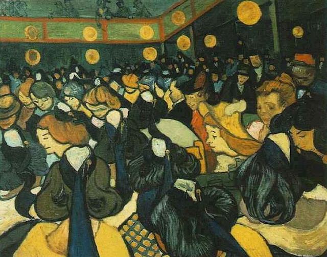Зал для танцев, Арли :: Ван Гог, описание картины - Van Gogh фото
