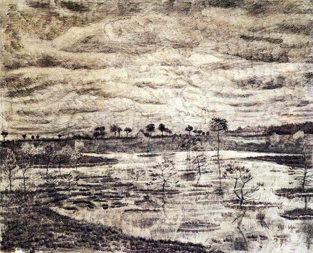 Болото [ картина - ранняя работа ] :: Ван Гог, описание картины - Van Gogh фото