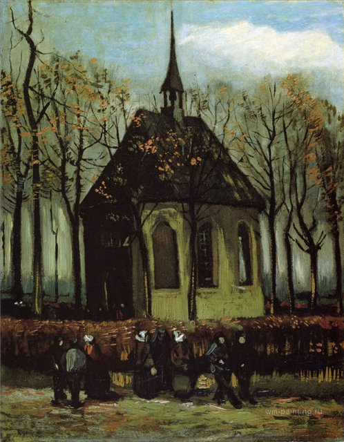 Капелла в Нуенене [ картина - живопись постимпрессионизм ] :: Ван Гог, описание картины - Van Gogh фото