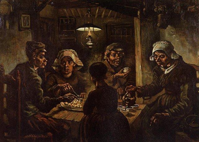 Едоки картофеля [ картина - живопись постимпрессионизм ] :: Ван Гог, описание картины - Van Gogh (Ван Гог) фото