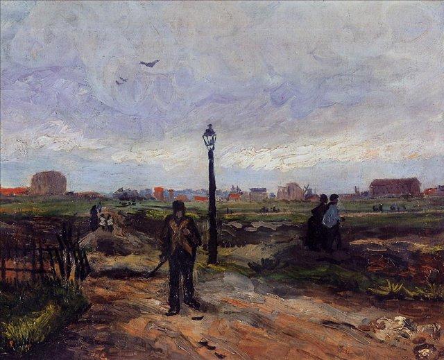 Окраины Парижа [ картина - живопись постимпрессионизм ] :: Ван Гог, описание картины - Van Gogh фото