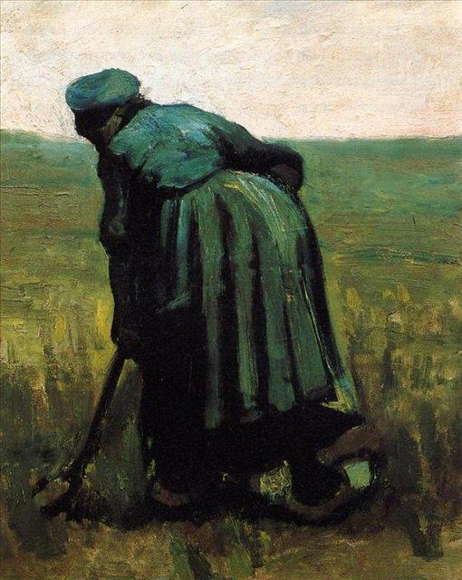 Копающая крестьянка [ картина - живопись постимпрессионизм ] :: Ван Гог, описание картины - Van Gogh (Ван Гог) фото