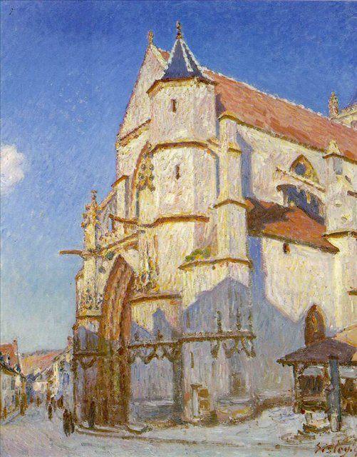Церковь в Морэ :: Сислей Альфред -  Alfred Sisley (Альфред Сислей) фото