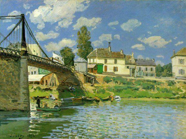 Мост в Вильнев-ла-Гаренн  :: Сислей Альфред - Alfred Sisley фото