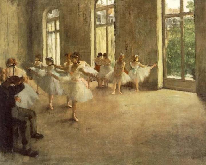 Репетиция, Эдгар Дега - Edgar Degas фото