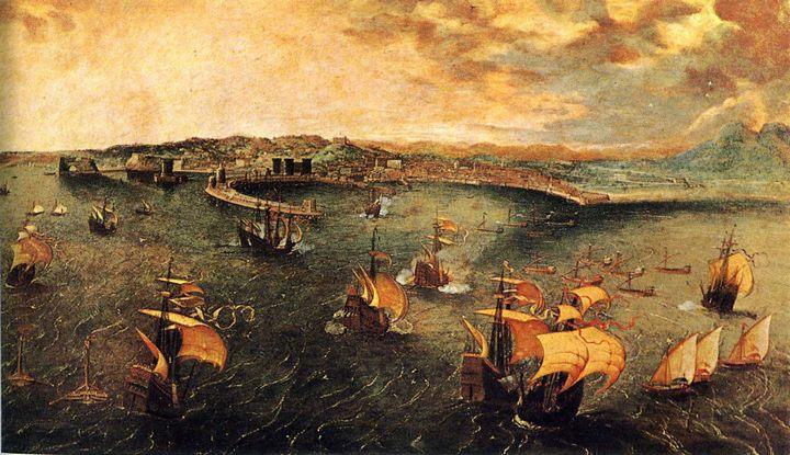 Морской бой в гавани Неаполя :: Питер Брейгель - Брейгель Питер фото