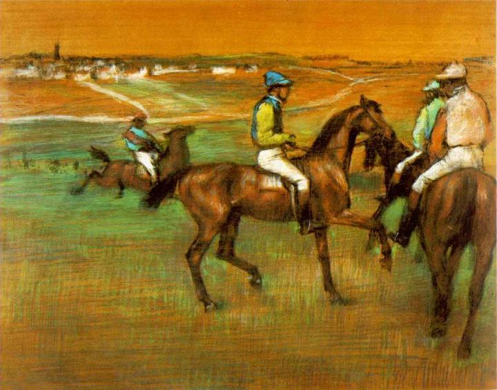 Скаковые лошади, Эдгар Дега - Edgar Degas фото