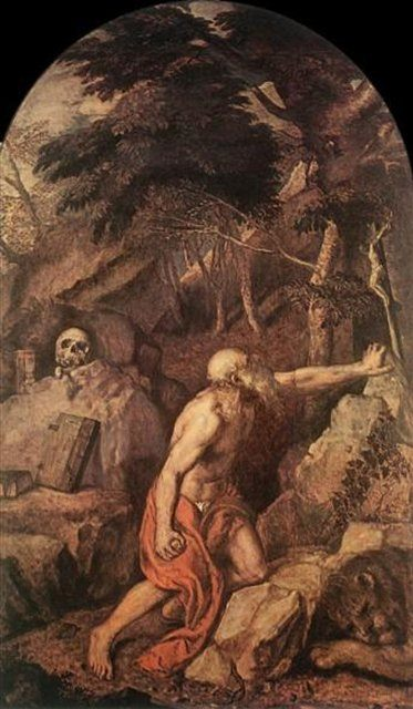 Святой Иероним :: Тициан Вачелио, описание картины - Tiziano Veccellio фото
