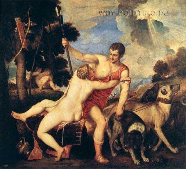 Венера и Адонис :: Тициан - Tiziano Veccellio фото