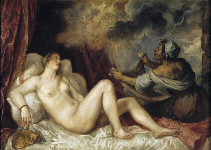 картина Даная :: Тициан - Tiziano Veccellio фото